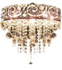 Ceiling Chandelier Gold Light