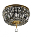 Gold-Crystal Ceiling Chandelier