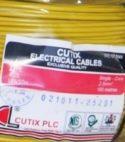 Cutix 16mm Single Core Copper Wire Black