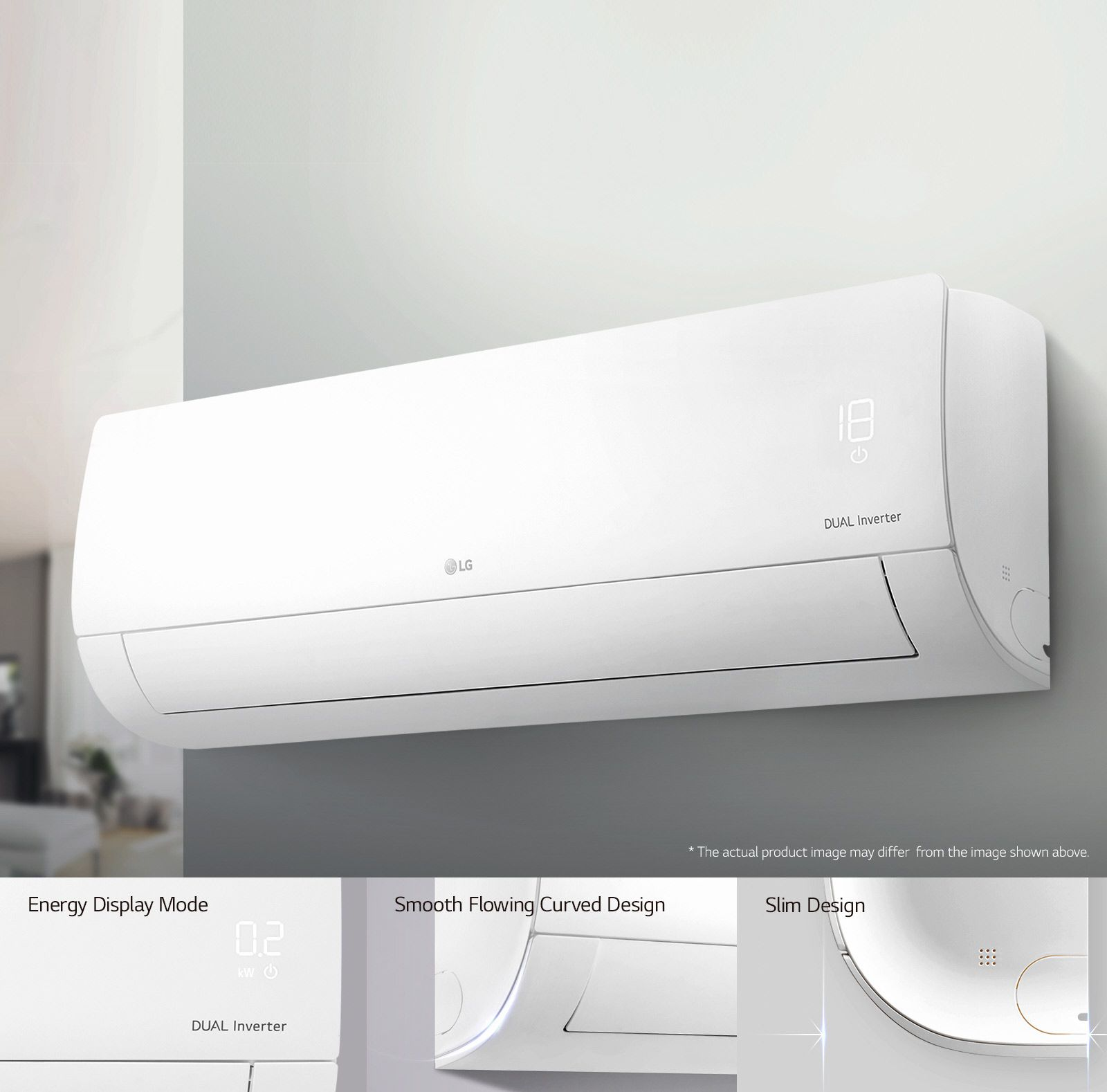 LG 1.5Hp Dual Inverter, R32 air conditioner