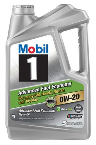 Mobil 1 0w-20 Advanced Fuel Economy Motor Oil 5 Quarts