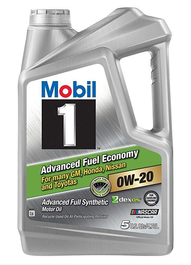 Mobil 1 0w-20 Advanced Fuel Economy Motor Oil 5 Quarts